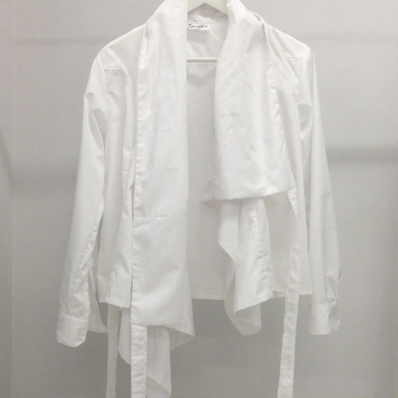 HIOKI TAKAYA Asymmetry shirt white