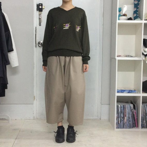 SHUTTLE wide pants BEIGE