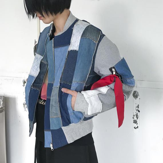 TAKAYA HIOKI / デニムパッチワークMA-1
