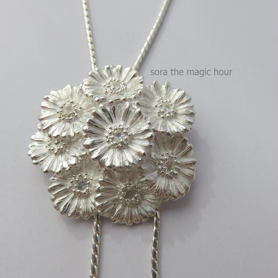 ガーベラブーケのループタイ sizeM   Garbera bouquet loop tie【受注生産】