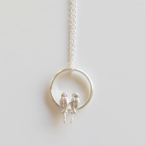 セキセイインコのリングネックレス