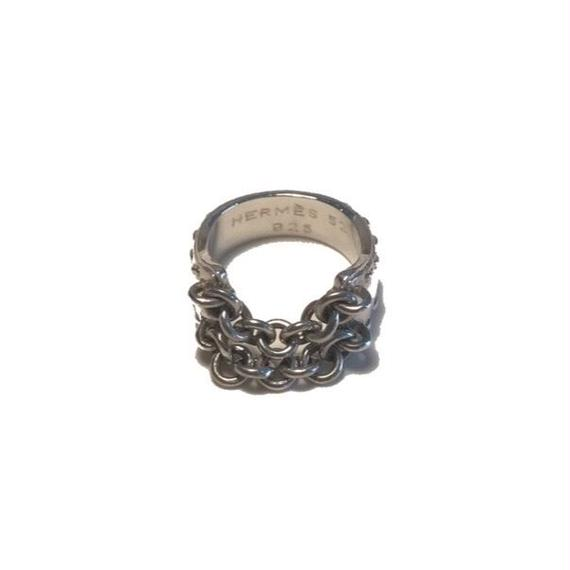 vintage HERMES Mexico ring chain #46