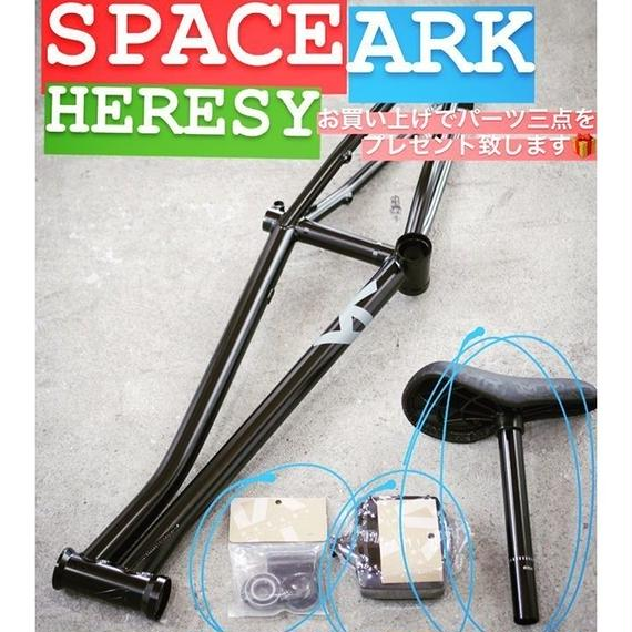 HERESY  FRAME (+SEAT,BB,PEDAL) BLK