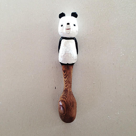 木彫りのパンダスプーン03