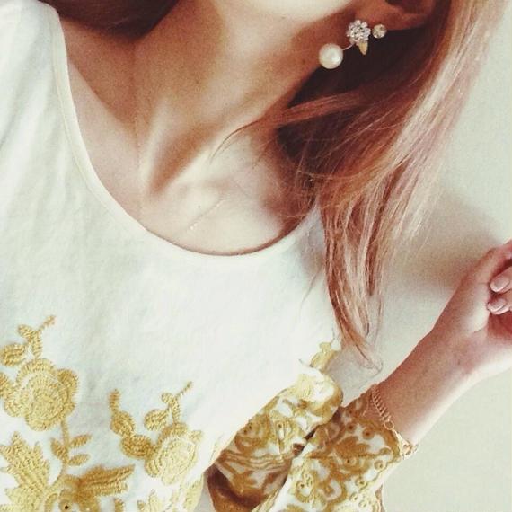 Nuts bijou pierced earring(片耳用)