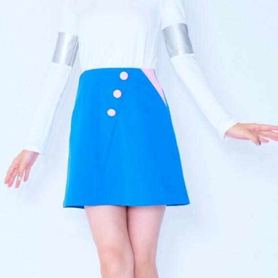 バイアスカットスカート
