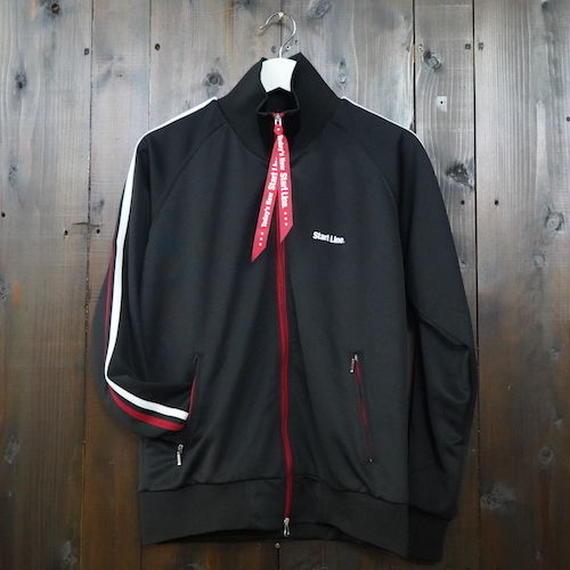 W-Zip Lines Jersey /ダブルジップラインジャージ(Black × Red/ブラック × レッド)