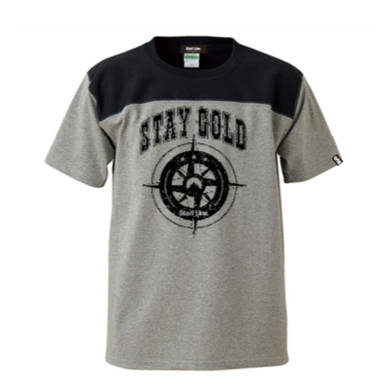 STAY GOLD T-shirt(Gray×Black)
