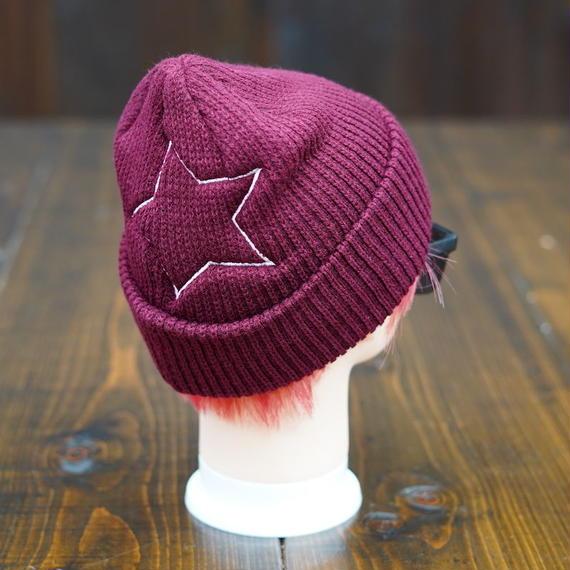 Big Star Knit Cap/ビッグスターニットキャップ(Burgundy/バーガンディ)