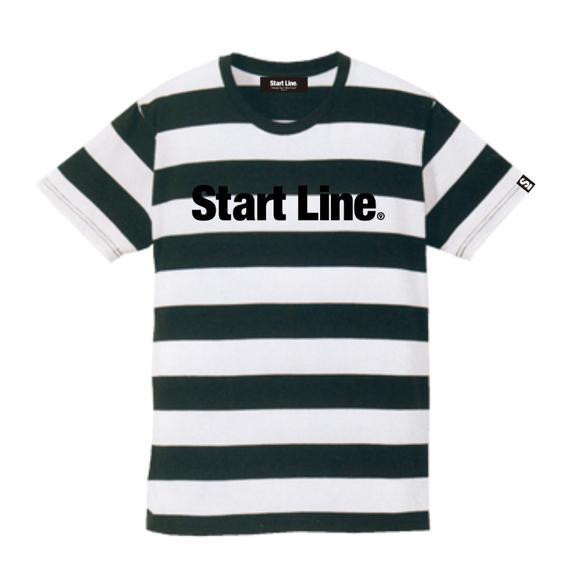 Start Line Standard Border T-shirt/スタンダードボーダーTシャツ(Black/ブラック)