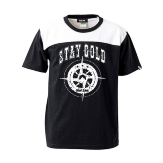 STAY GOLD T-shirt(Black×White)