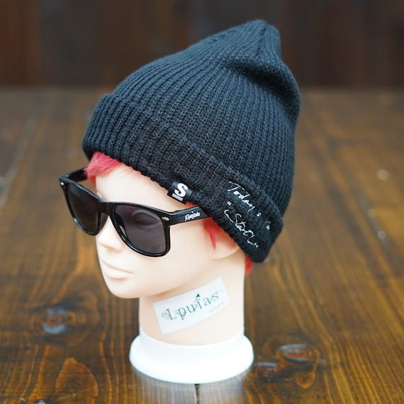 Big Star Knit Cap/ビッグスターニットキャップ(Black/ブラック)