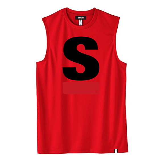 Big S Active No-sleeve(Red)