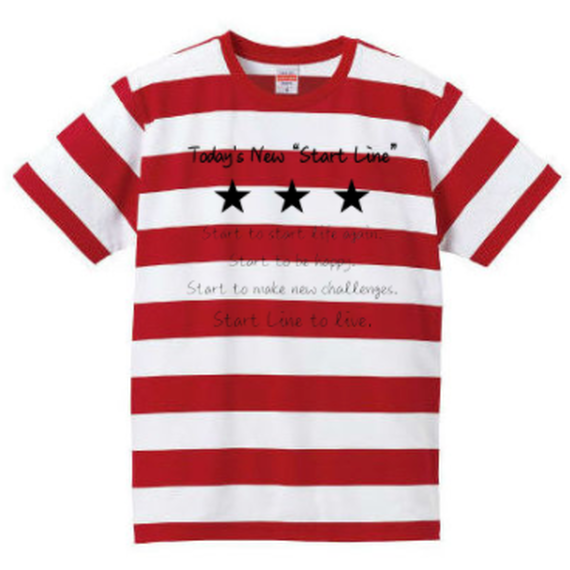 Message Border Kids T-shirt(Red)