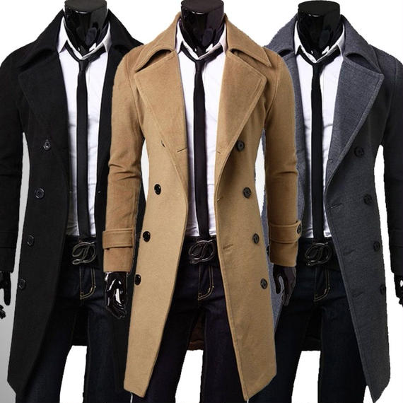 ☆細身大きいサイズ メンズ チェスターコート ロングコート きれいめ 大人カジュアル ロング丈 ビジネス アウター スーツ 防寒 冬