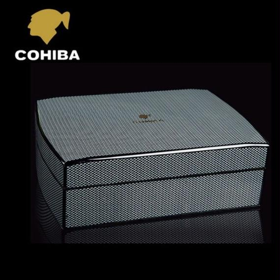 ☆COHIBA Portable Humidor  湿度計&加湿器完備!! 旅行向き葉巻たばこシガー入れ ポータブルヒュミドール シンプル&コンパクト