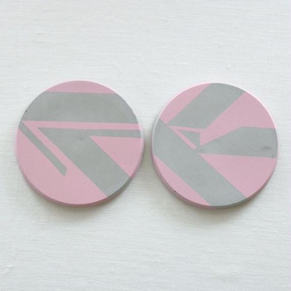 ail+el ペアコンクリートコースター/ピンク