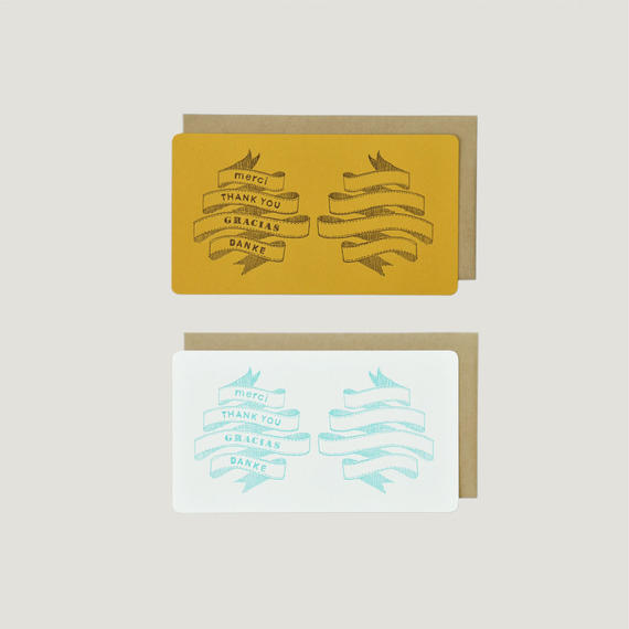 SAB LETTERPRESS CARD SET / THANK YOU