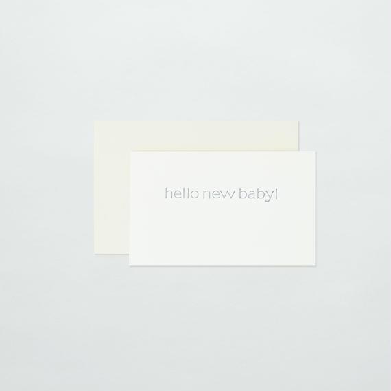 SAB LETTERPRESS   BABY CARD