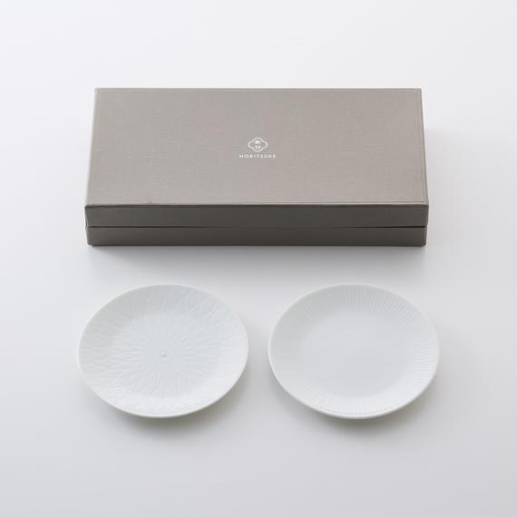 4.5寸丸皿 2枚入りギフトセット