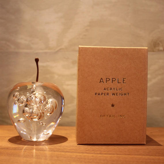 "APPLE PAPER WEIGHT ""Clear"""