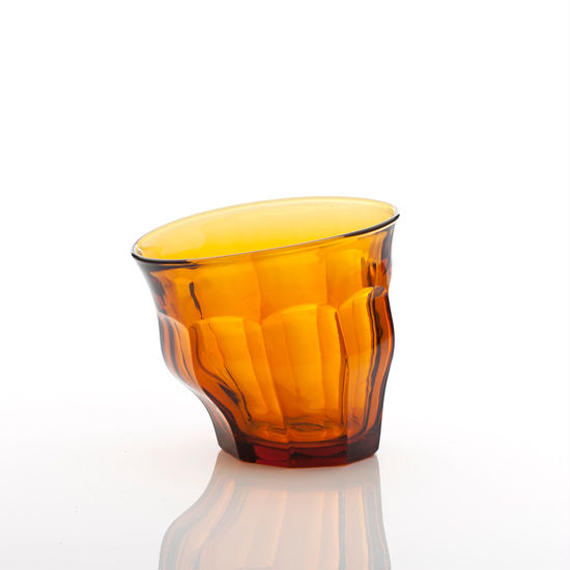 TIPSY GLASS -AMBER-