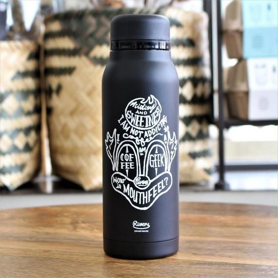 STAINLESS BOTTLE FLASKER BLACK CLOWN 420