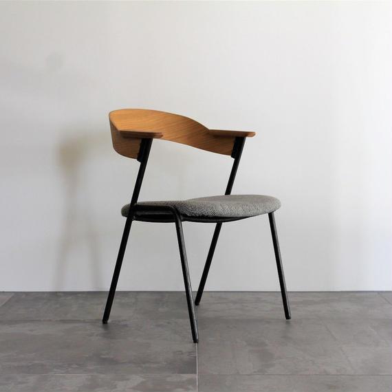 danis short arm chair NA - herringbone chacole gray -