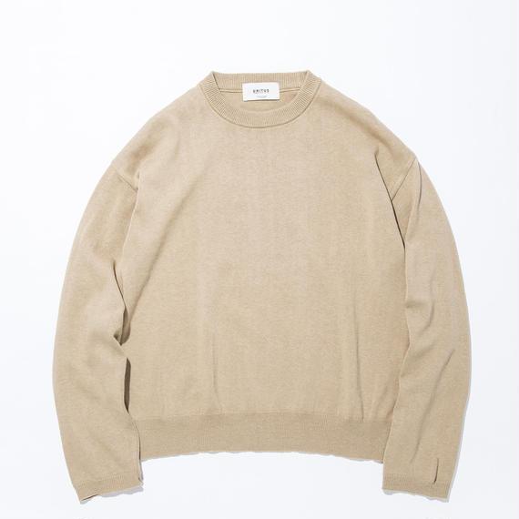 UNITUS(ユナイタス) SS17 L/S Wide Knit Beige