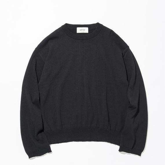 UNITUS(ユナイタス) SS17 L/S Wide Knit Black