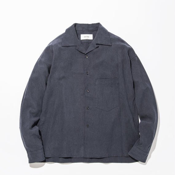 UNITUS(ユナイタス) SS17 Open Collared Shirts Navy