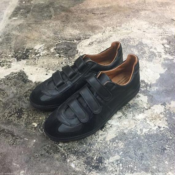 REPRODUCTION OF FOUND(リプロダクションオブファウンド) 1703L/GERMAN MILITARY TRAINER-VELCRO BLACK/BLACK/SOLE