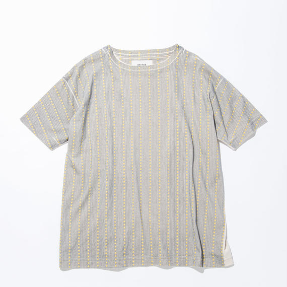 UNITUS(ユナイタス) SS17 Printed T Shirts Yellow Stripe