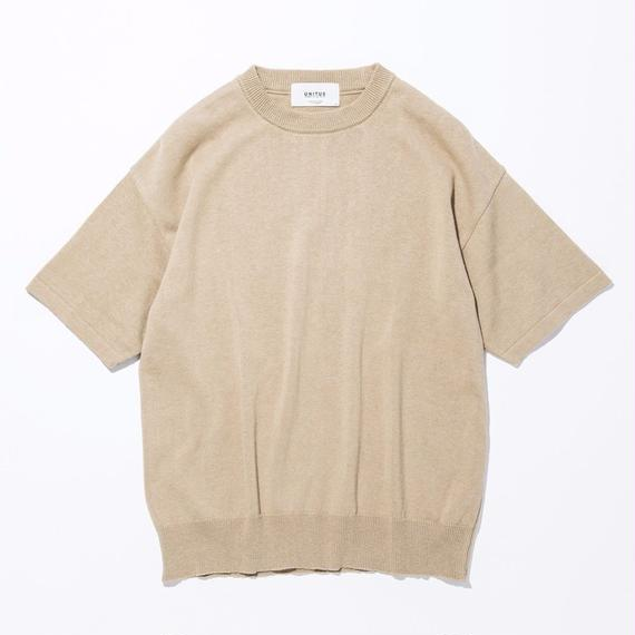 UNITUS(ユナイタス) SS17 S/S Wide Knit Beige