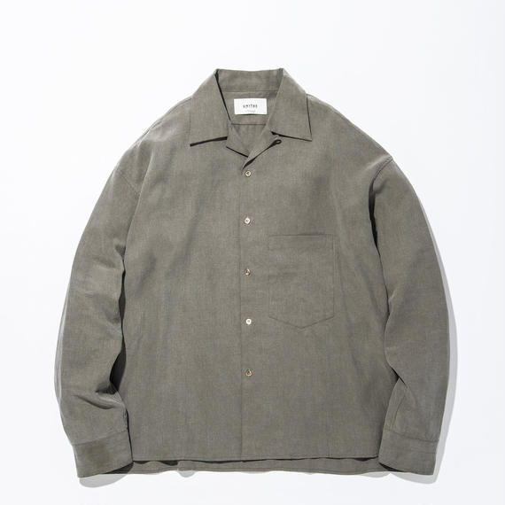UNITUS(ユナイタス) SS17 Open Collared Shirts Olive