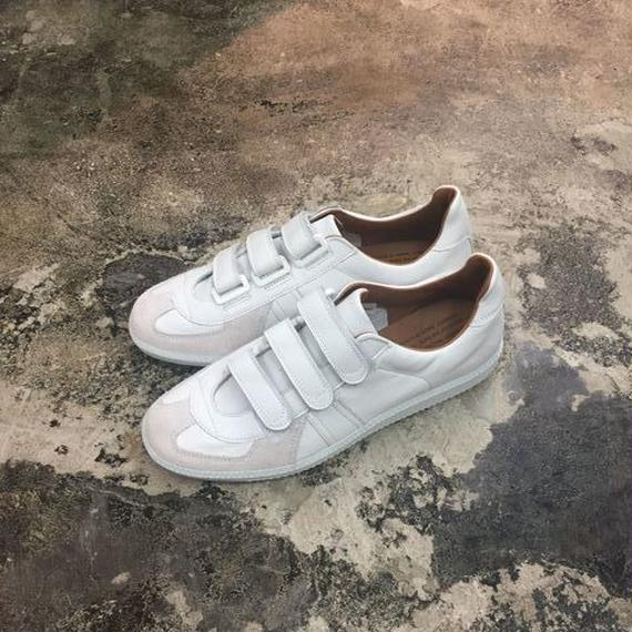 REPRODUCTION OF FOUND(リプロダクションオブファウンド) 1703L/GERMAN MILITARY TRAINER-VELCRO WHITE