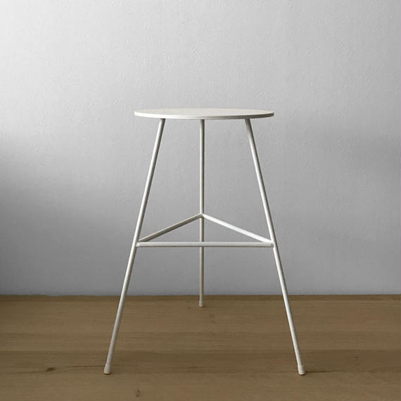 NEOMING IRON STOOL w/3LEGS 'FULL LACQUERED' (D-TYPE)