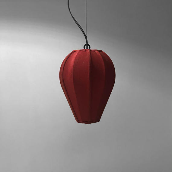 NEOMING FABRIC PENDANT LAMP w/WIRE 'BUD S'