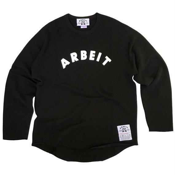 【ARBEIT underground. 】 カットオフクルーネックスウェット/ブラック
