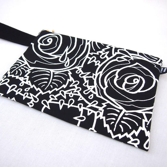 "KW's ""ROSE"" Clutch Bag / Black"