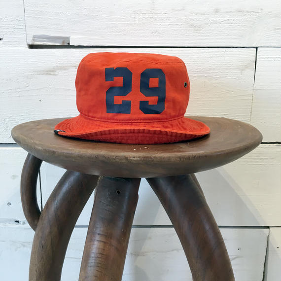 CLASSIC BUCKET HAT / Orange × Navy