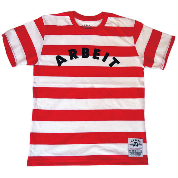 ARBEITunderground./Striped Tee (RED x WHITE)