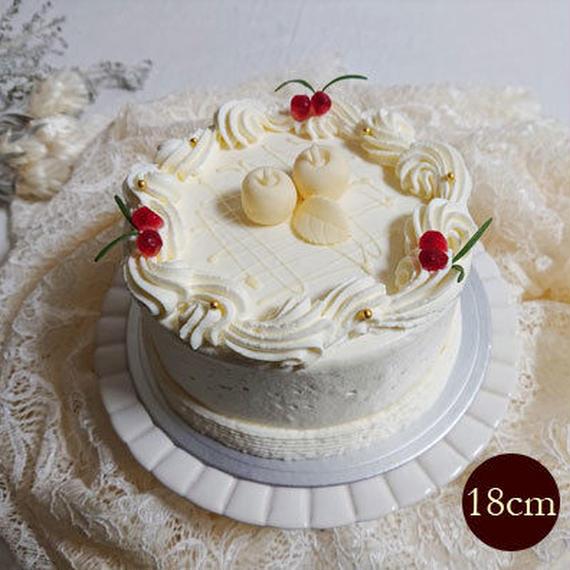 【数量限定】Snow White ~林檎&カシスジュレのマスカルポーネレアチーズケーキ~ 18cm