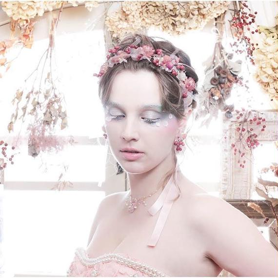 ◇Pinkrry(ピンクリー)二点セット カチューシャ/ネックレスと耳飾りのセット