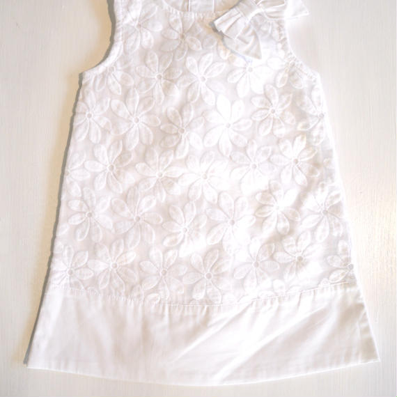 【GYMBOREE】  white cotton flower dress