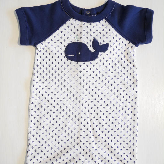 【GYMBOREE】   navy whale print  body suit