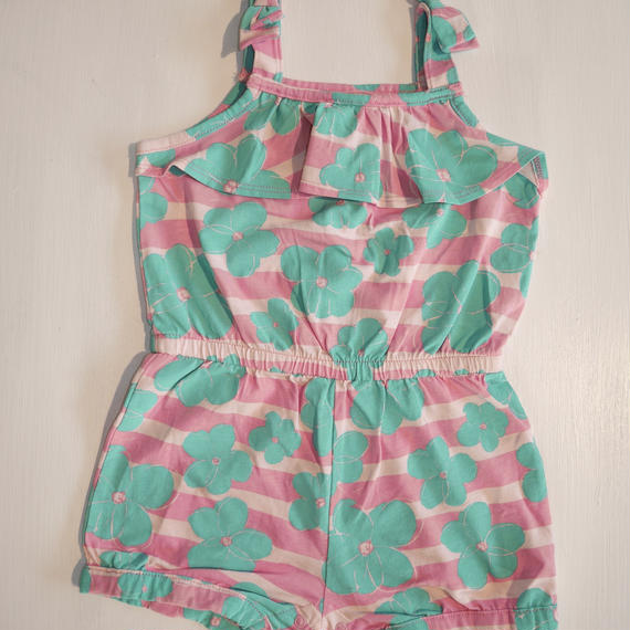 【GYMBOREE】  pink border floral rompers