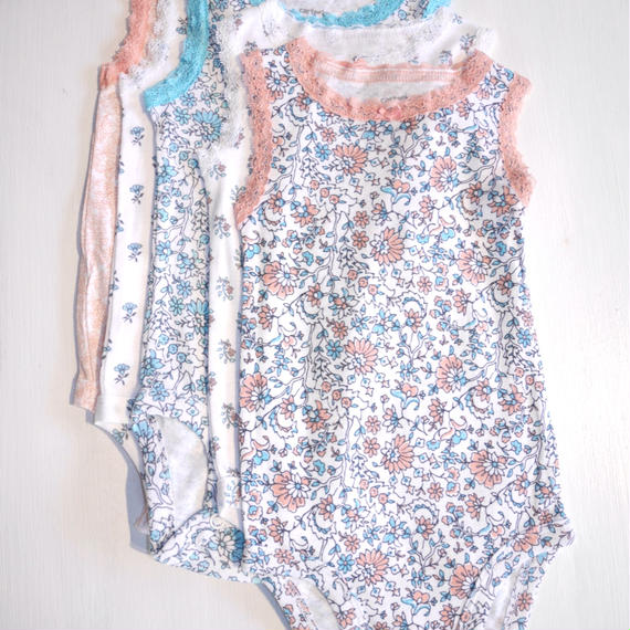 【Carter's】   mini flower no sleeve 5set