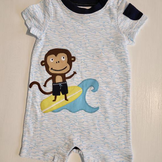 【GYMBOREE】  surf monkey body suit