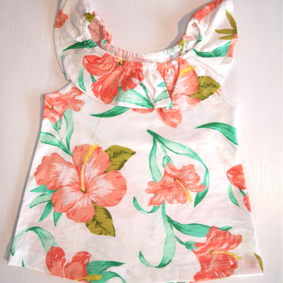【Carter's】 hibiscus print top